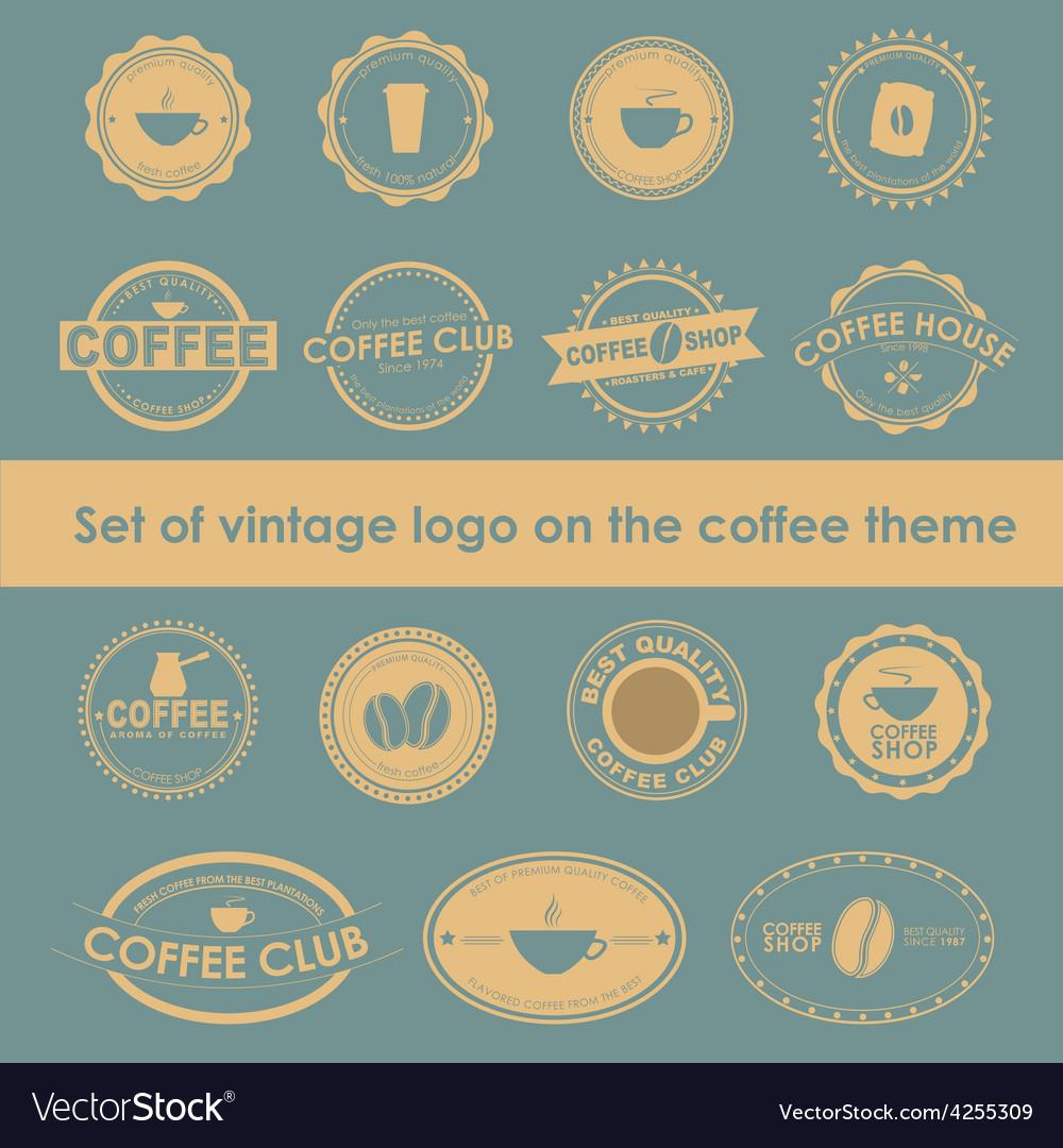 Coffee logo 4 vector | Price: 1 Credit (USD $1)