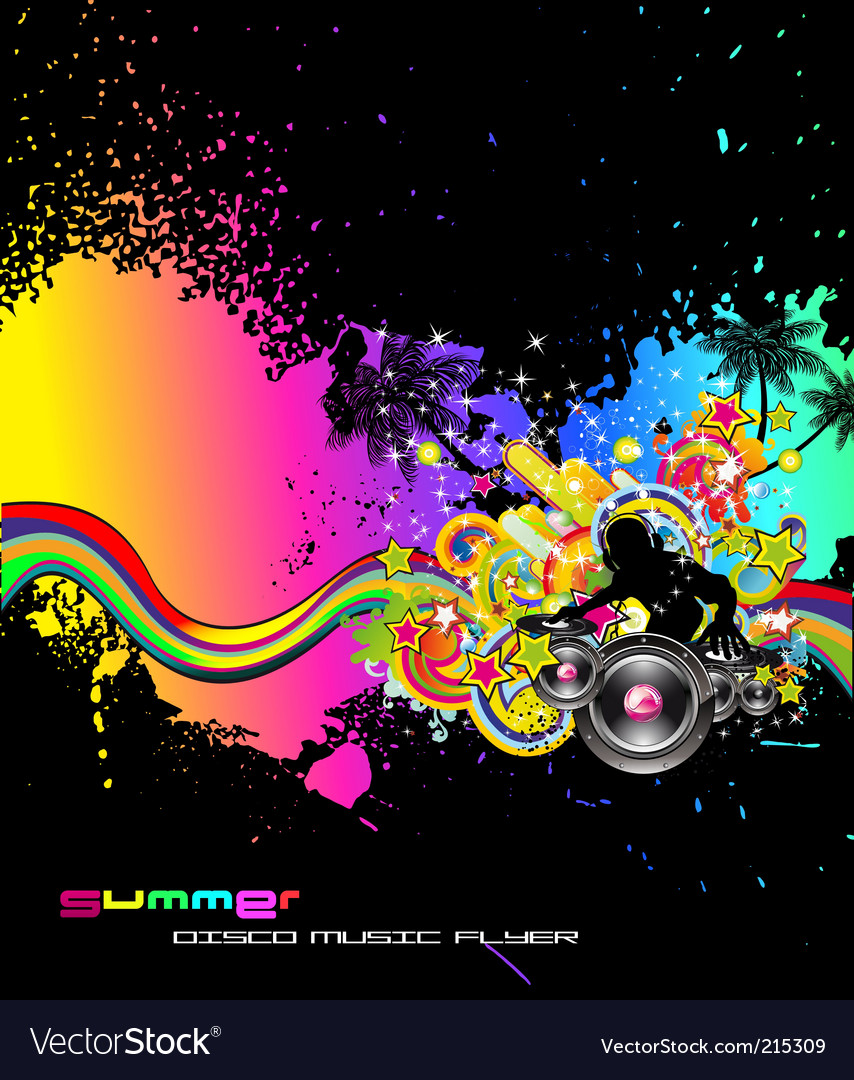 Dj collage vector | Price: 3 Credit (USD $3)