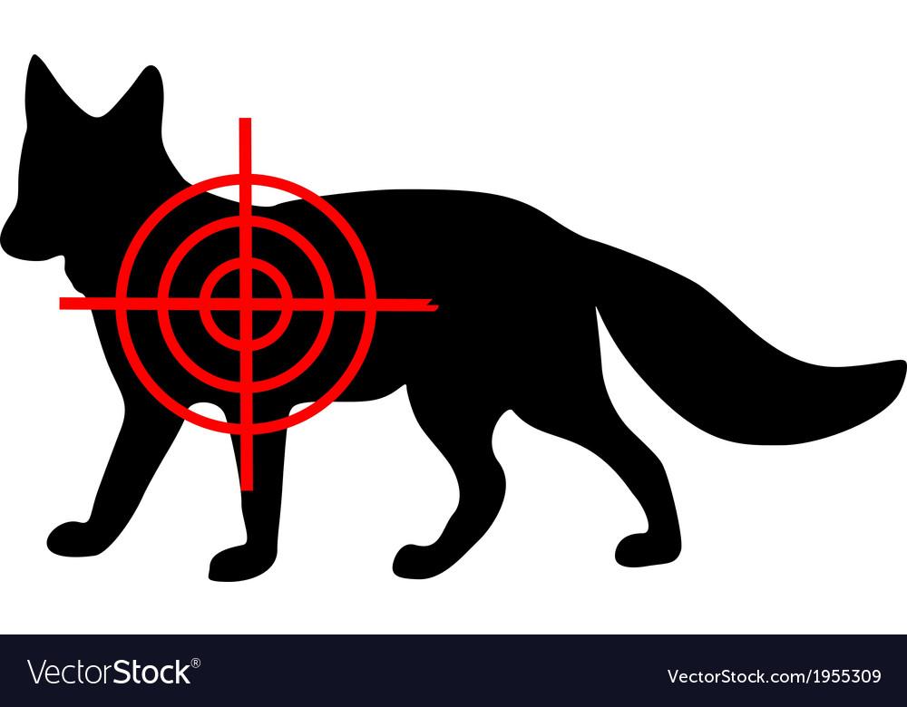 Fox crosshair vector | Price: 1 Credit (USD $1)