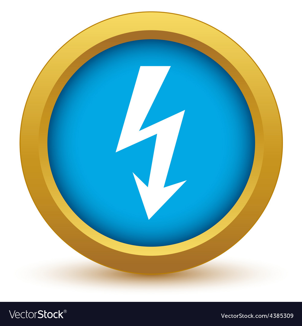 Gold lightning icon vector | Price: 1 Credit (USD $1)