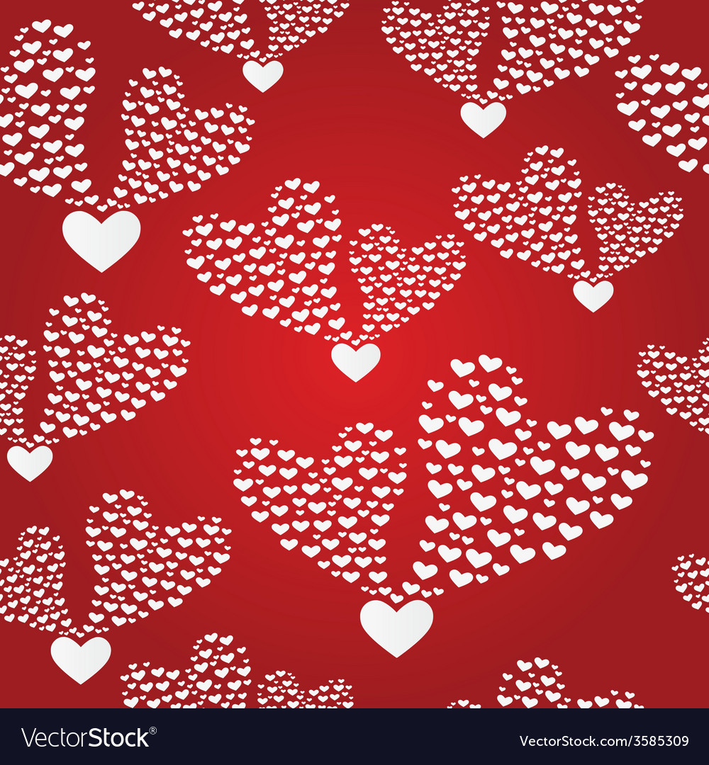 Seamless background to the valentine s day vector | Price: 1 Credit (USD $1)