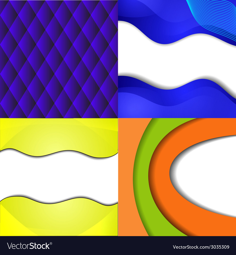 Set of bright abstract backgrounds design eps 10 vector | Price: 1 Credit (USD $1)