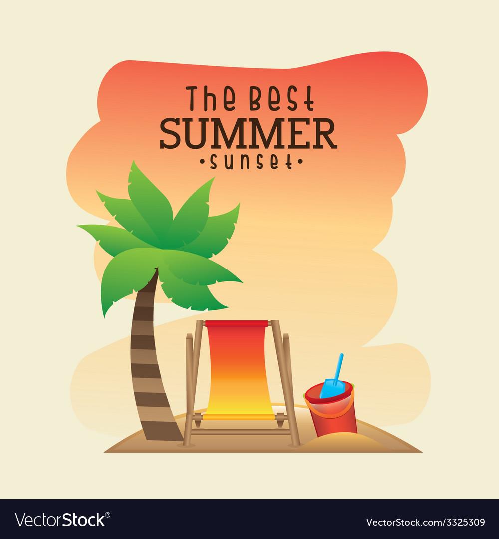 Summer design vector | Price: 1 Credit (USD $1)