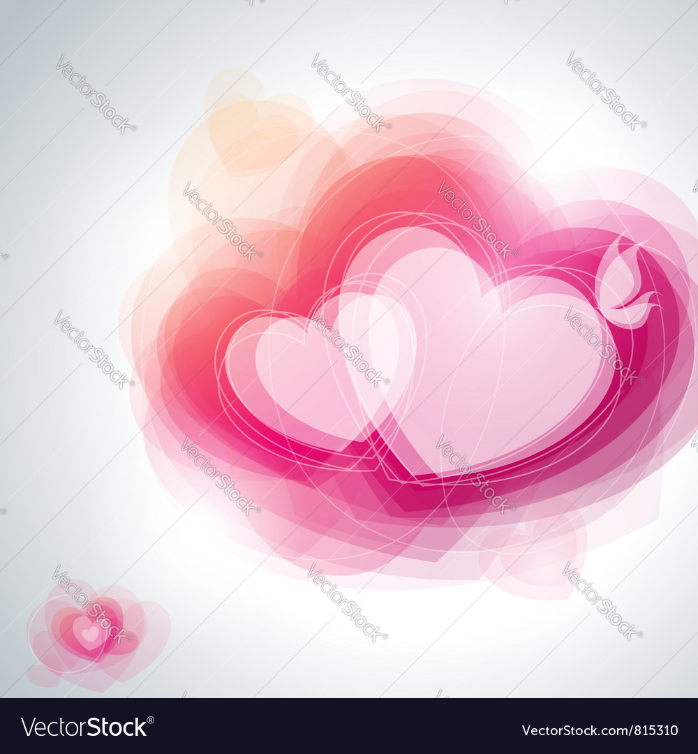 Abstract pink hearts vector | Price: 1 Credit (USD $1)