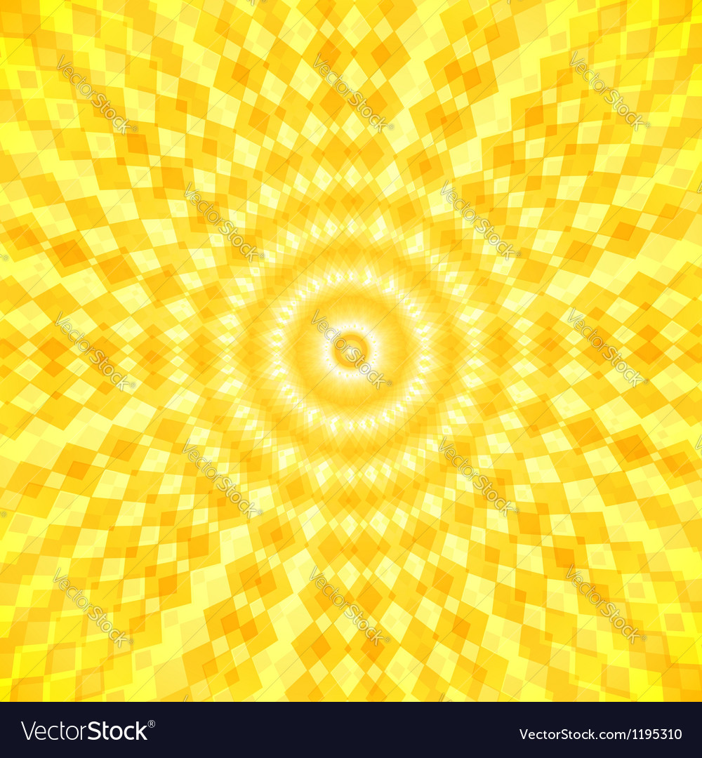 Abstract sun waves background vector | Price: 1 Credit (USD $1)