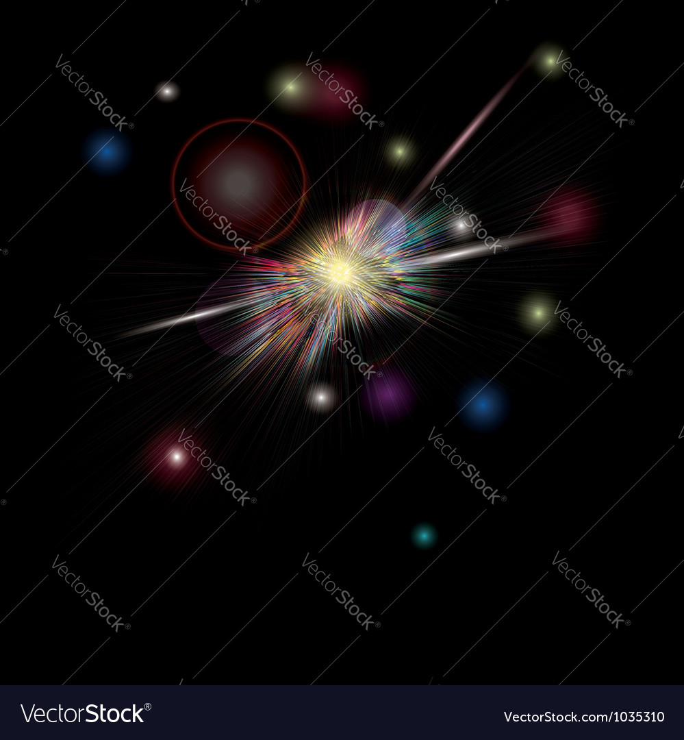 Brightly colorful fireworks vector | Price: 1 Credit (USD $1)
