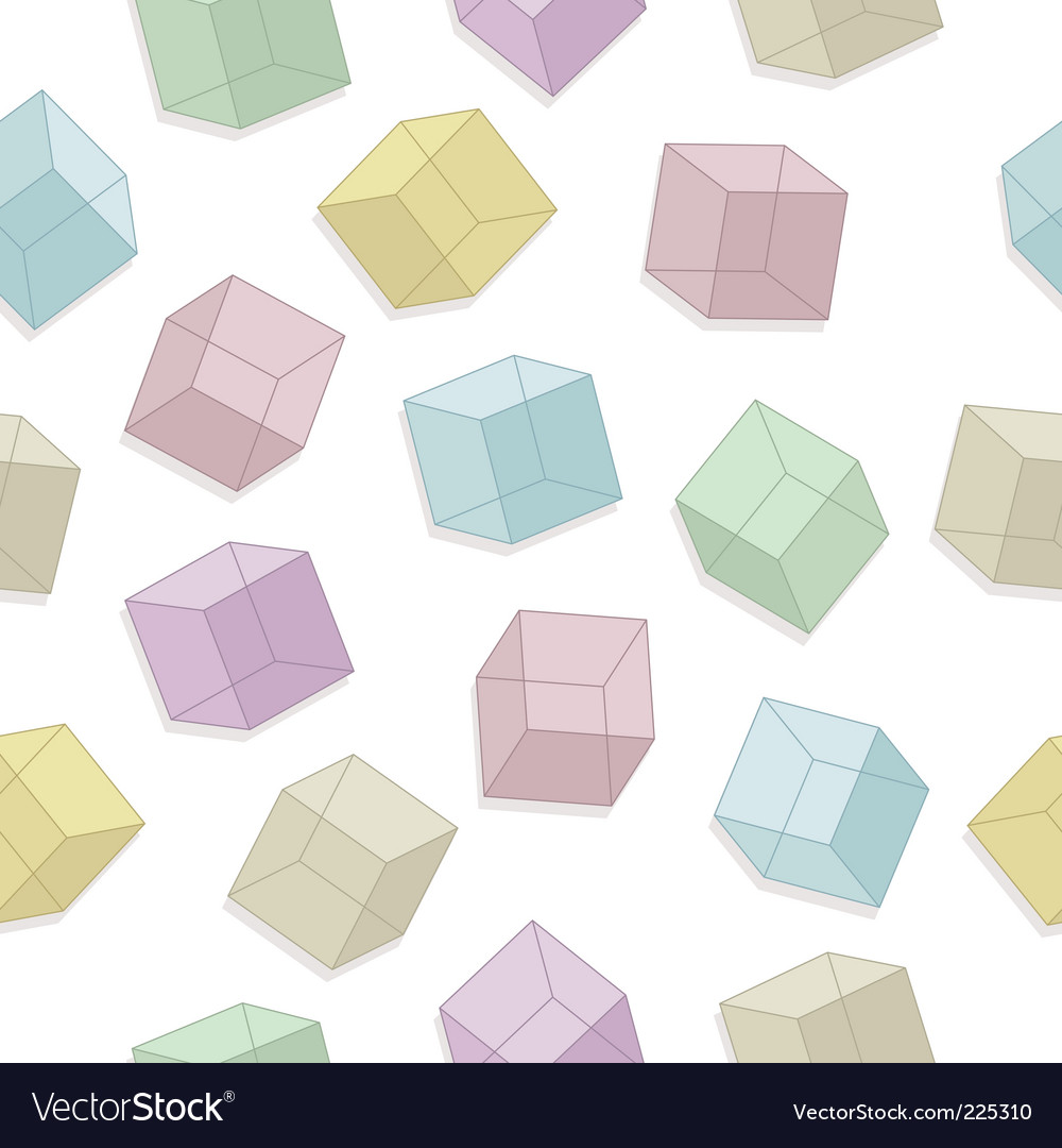 Cubes seamless pattern vector | Price: 1 Credit (USD $1)