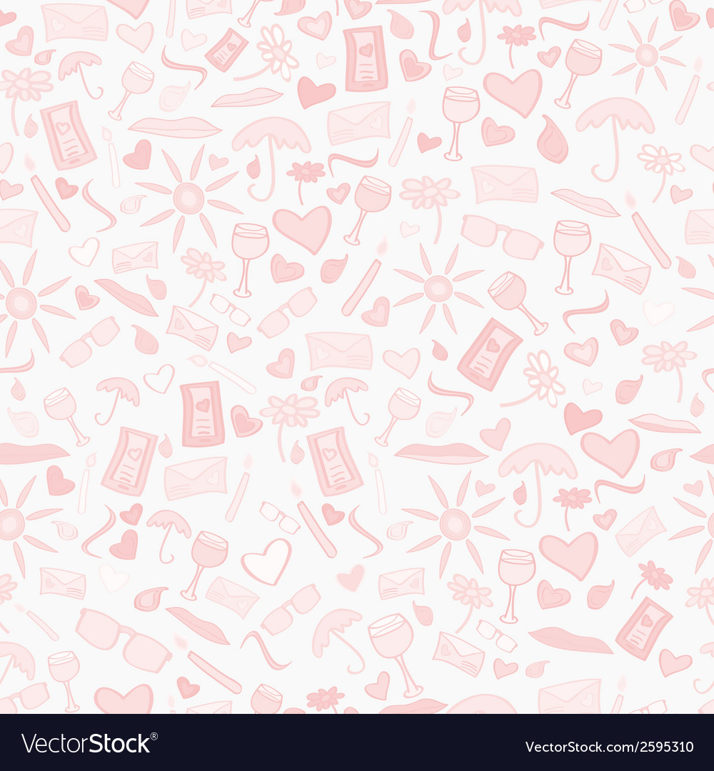 Doodle seamless love pattern vector | Price: 1 Credit (USD $1)