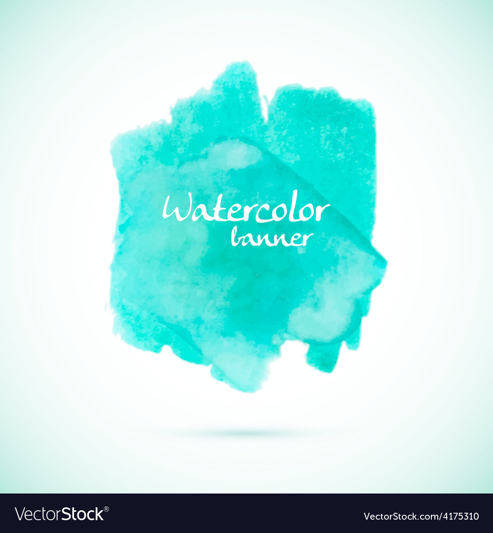 Green watercolor splash element for summer designs vector | Price: 1 Credit (USD $1)