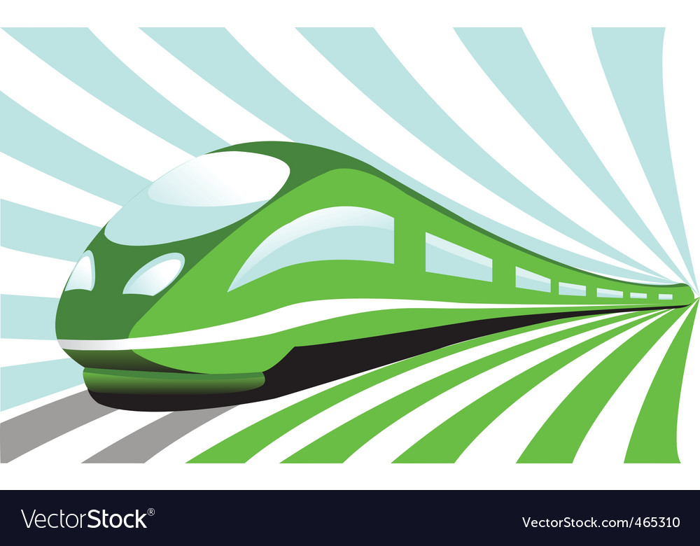 High-speed train vector | Price: 1 Credit (USD $1)