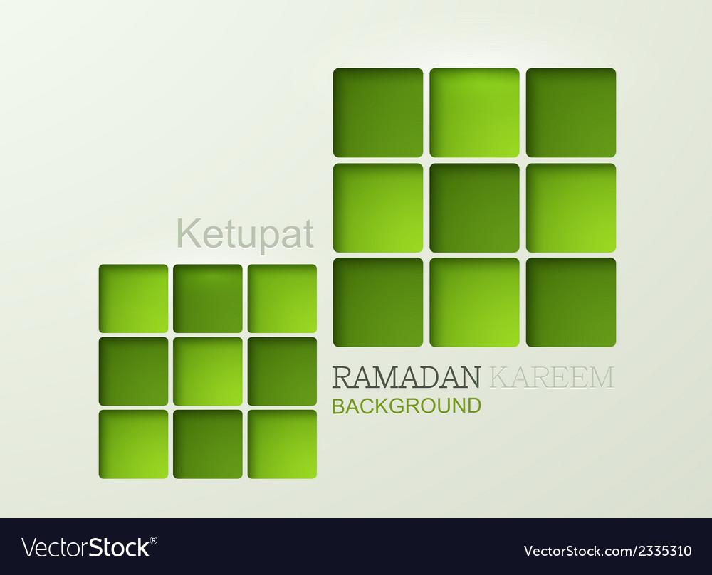 Ketupat element design vector | Price: 1 Credit (USD $1)