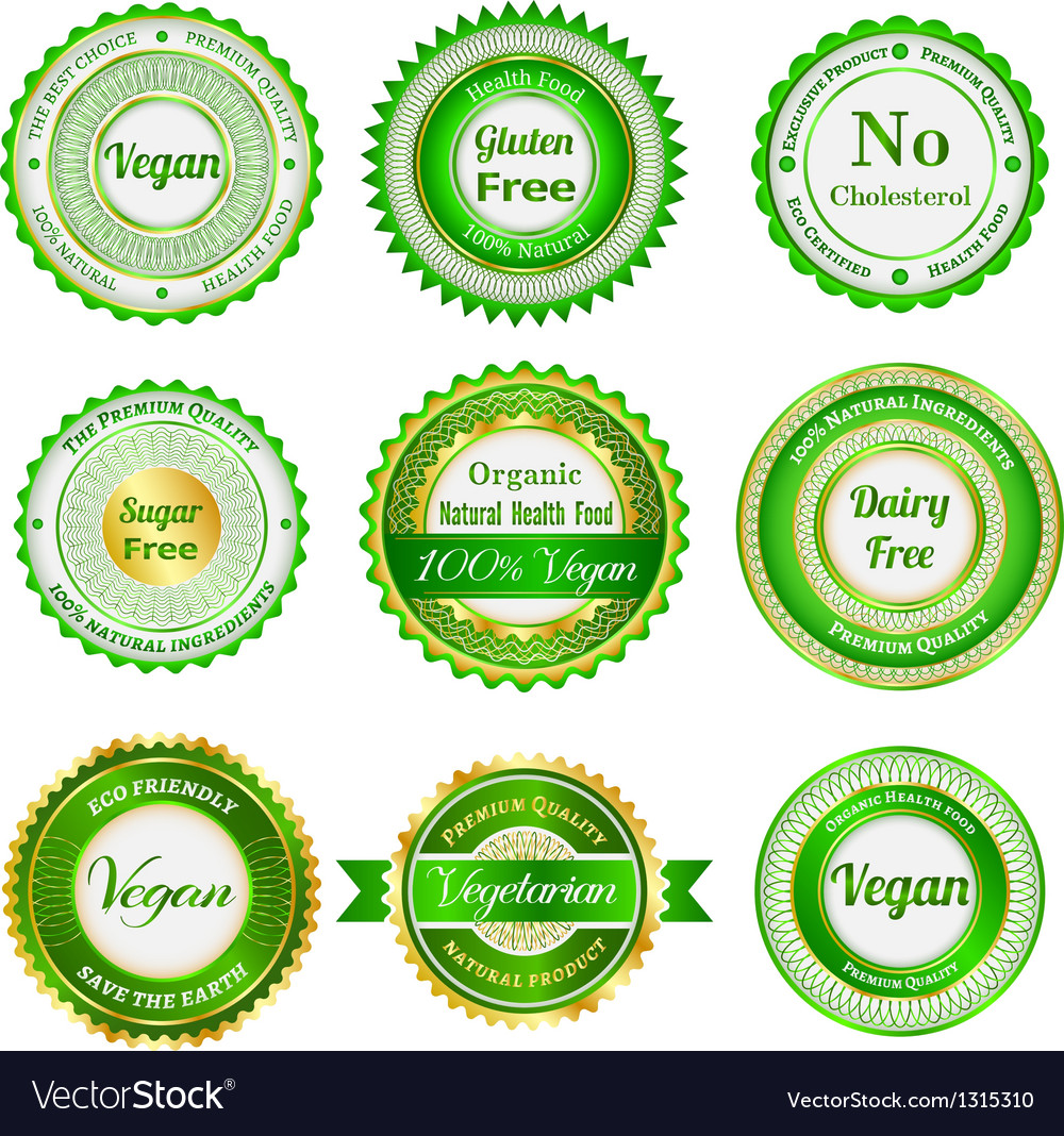 Organic labels badges and stickers vector | Price: 1 Credit (USD $1)