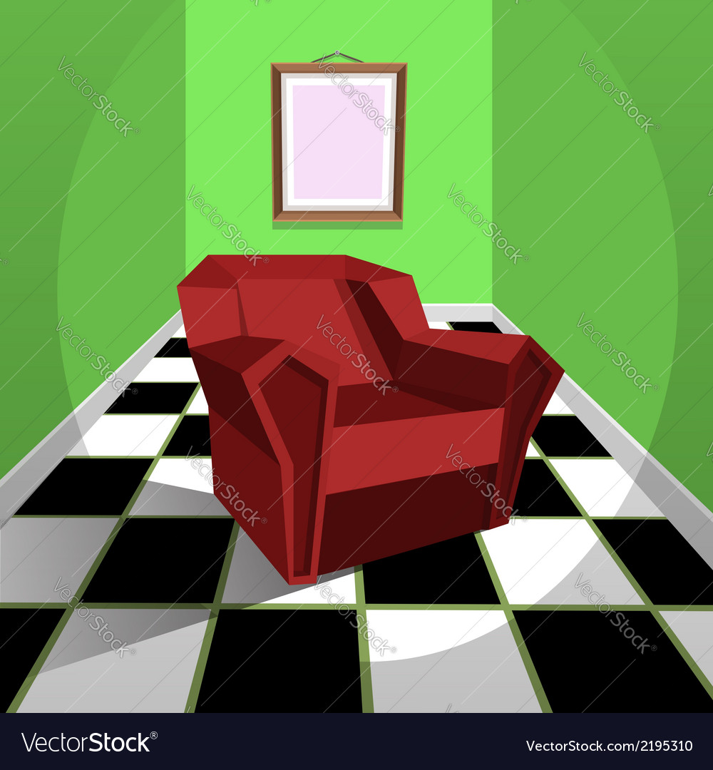 Red armchair vector | Price: 3 Credit (USD $3)