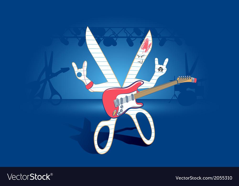 Rock paper scissors concept vector | Price: 1 Credit (USD $1)