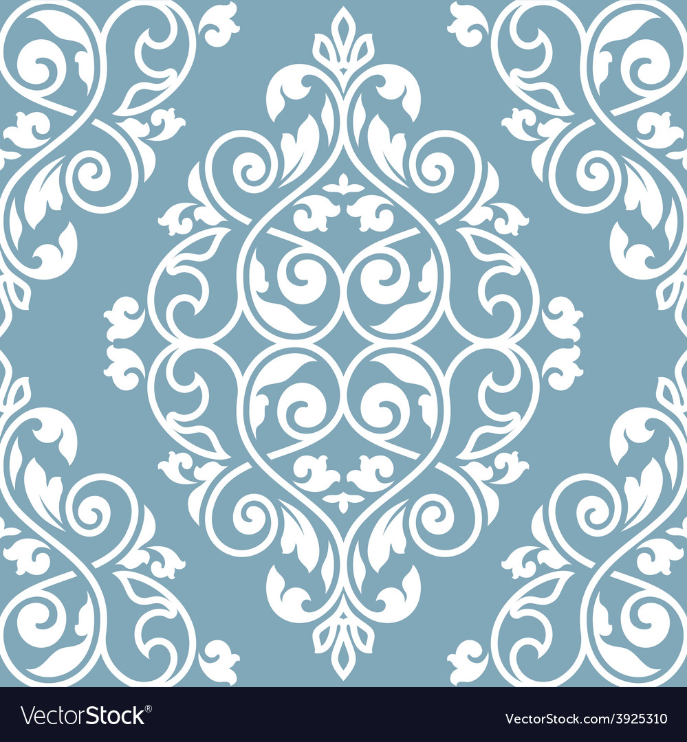 Seamless damask pattern vector | Price: 1 Credit (USD $1)
