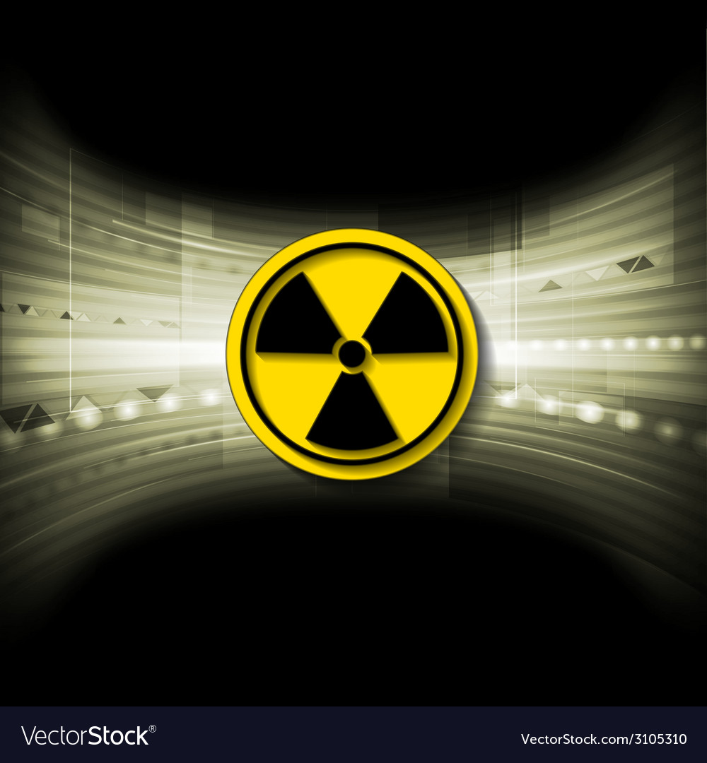 Tech background with radioactive symbol vector | Price: 1 Credit (USD $1)
