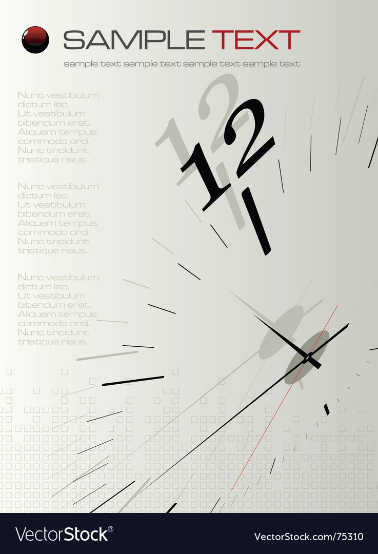 Time concept composition vector | Price: 1 Credit (USD $1)