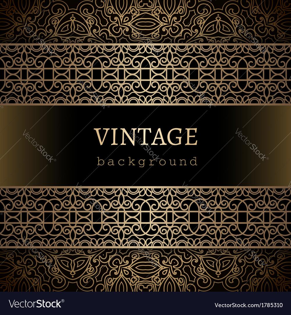 Vintage gold background vector | Price: 1 Credit (USD $1)