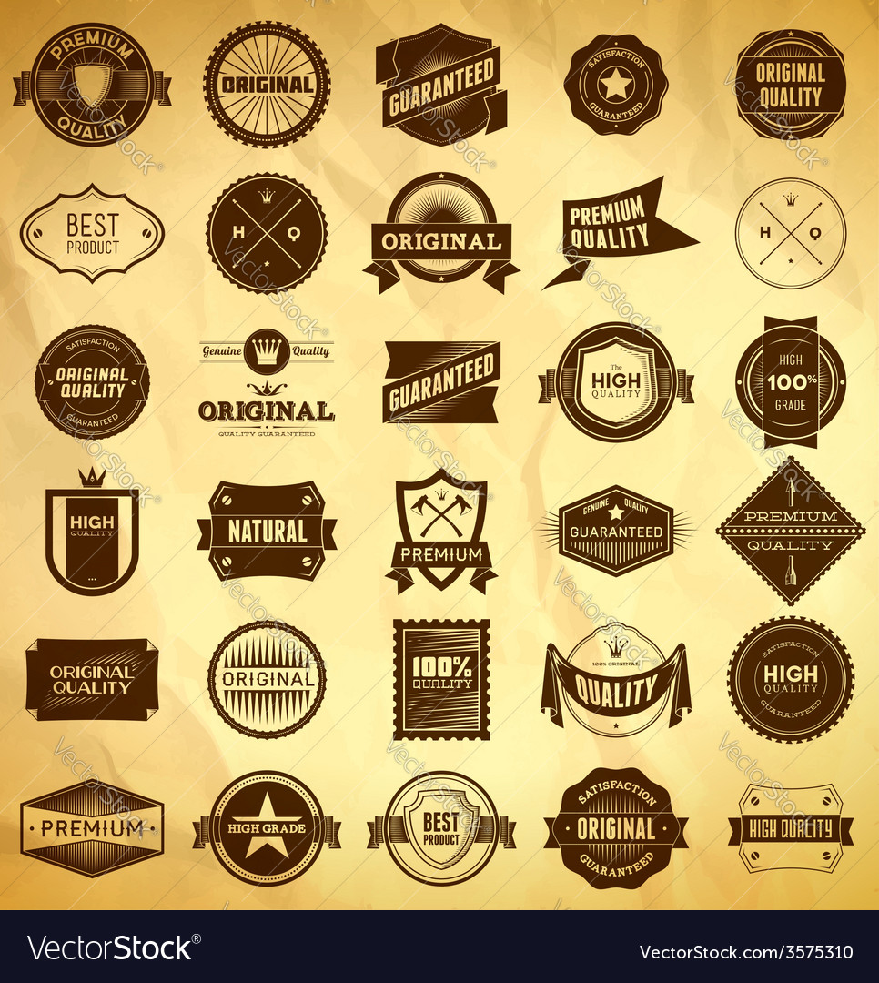 Vintage labels big collection 2 vector | Price: 1 Credit (USD $1)