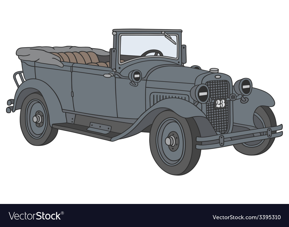 Vintage military car vector | Price: 1 Credit (USD $1)