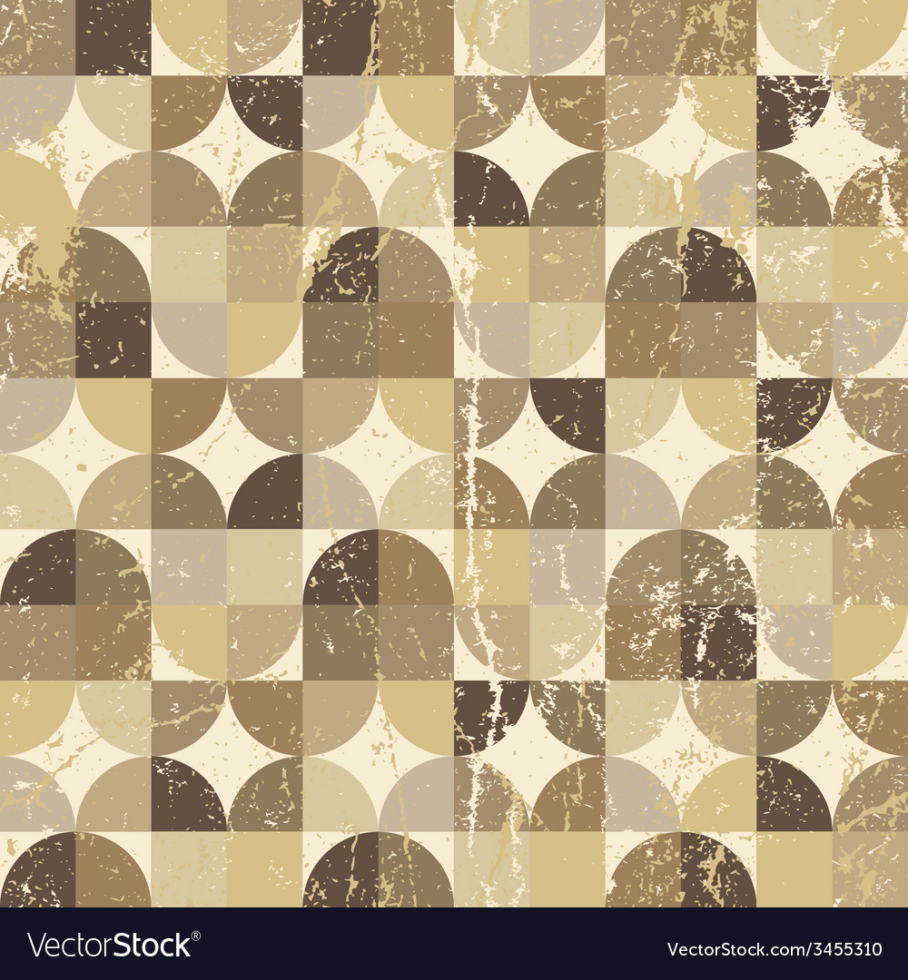 Vintage squared seamless pattern rhombic abstract vector | Price: 1 Credit (USD $1)