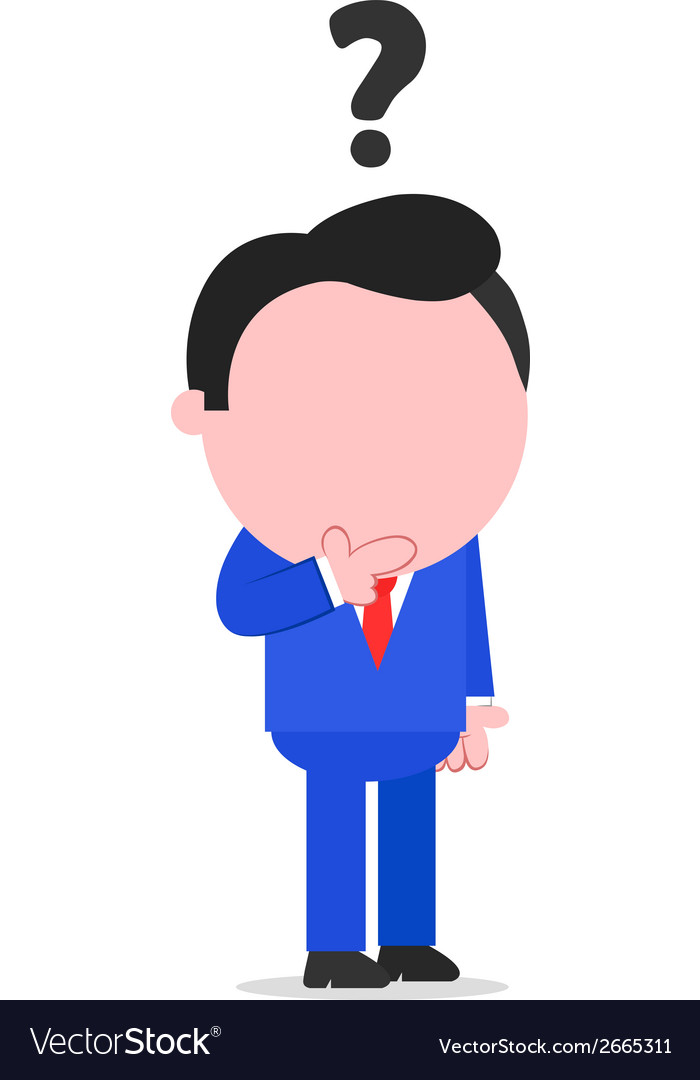 Confused businessman vector | Price: 1 Credit (USD $1)
