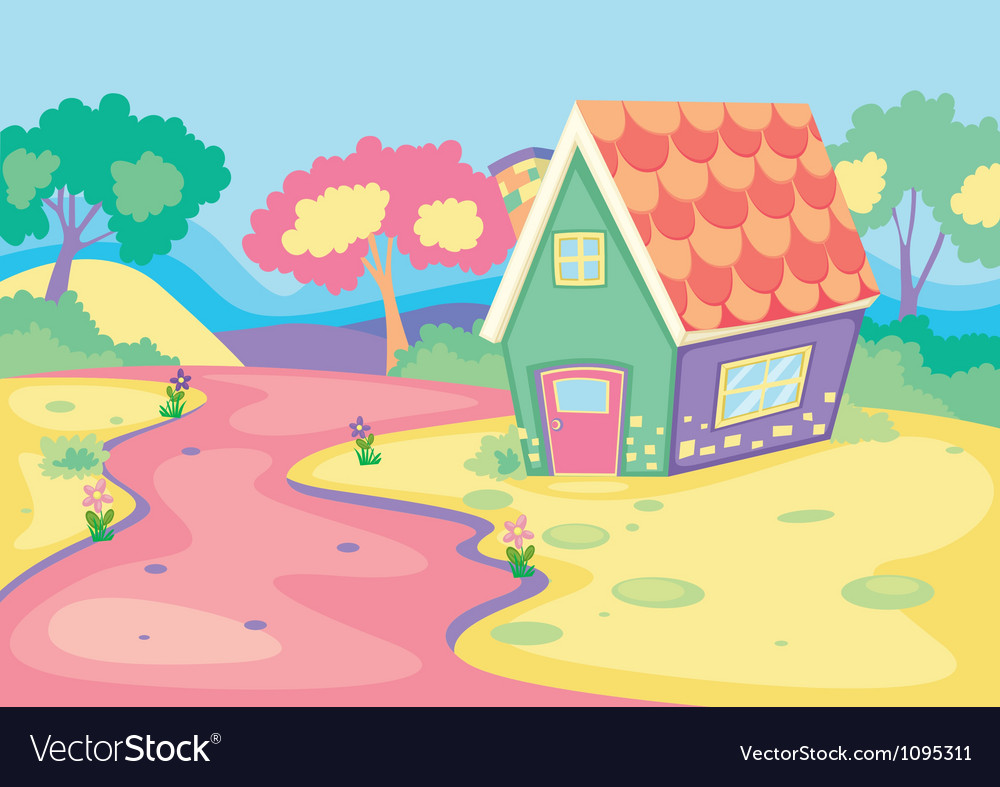 House in nature vector   Price: 1 Credit (USD $1)