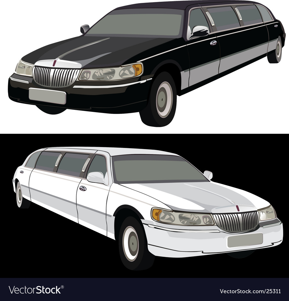 Long limousine vector | Price: 3 Credit (USD $3)