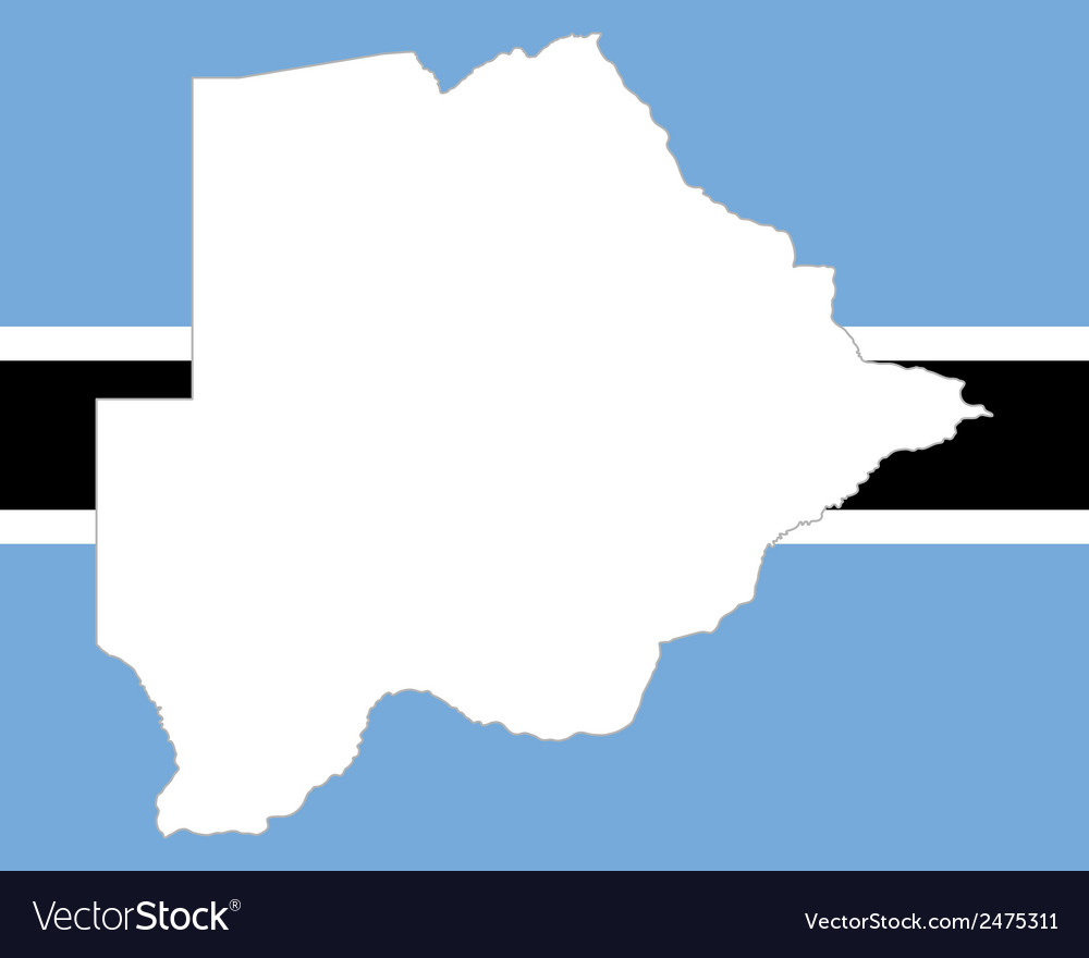 Map and flag of botswana vector | Price: 1 Credit (USD $1)
