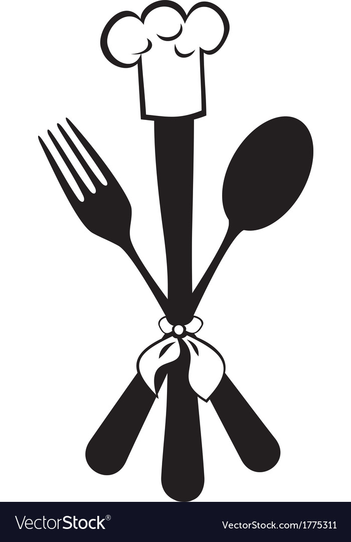 Menu knife fork spoon vector | Price: 1 Credit (USD $1)