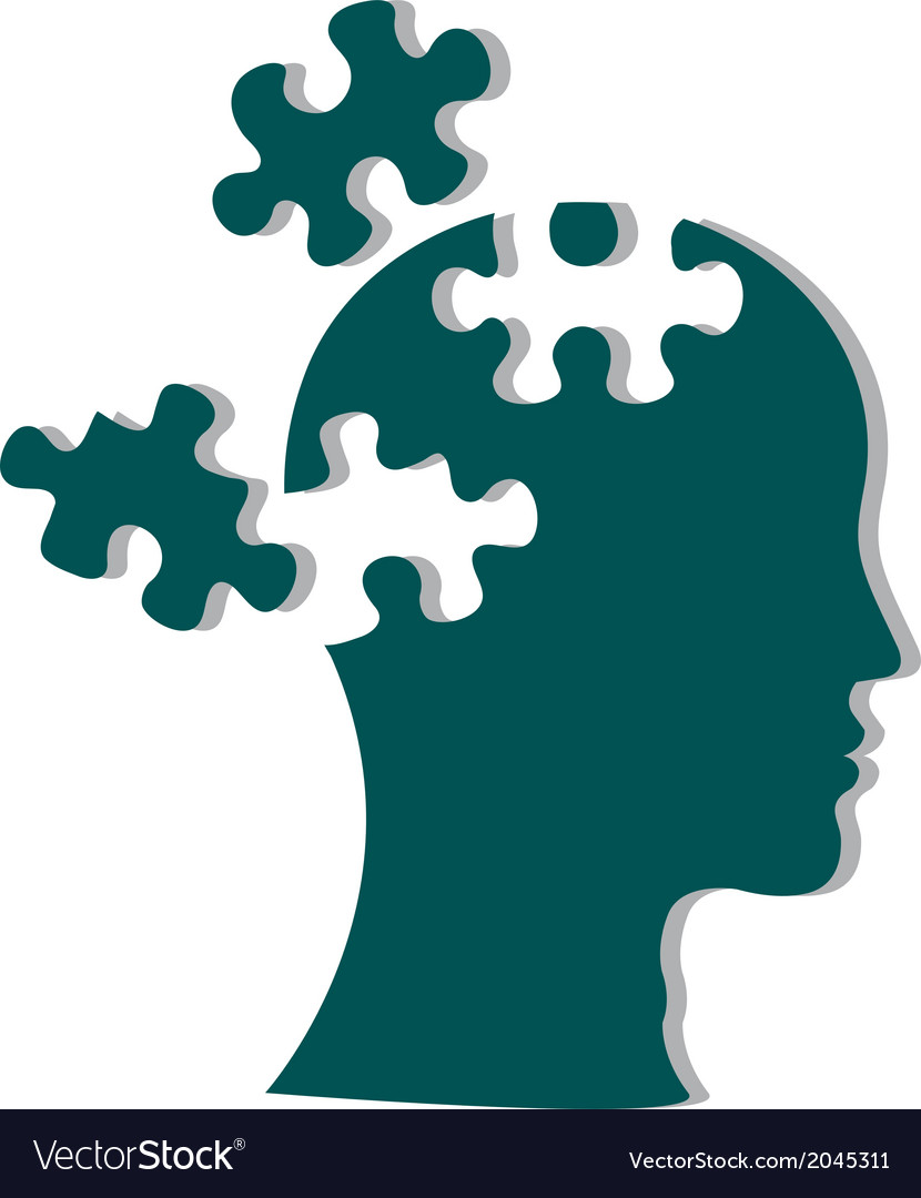 People head with puzzles vector | Price: 1 Credit (USD $1)