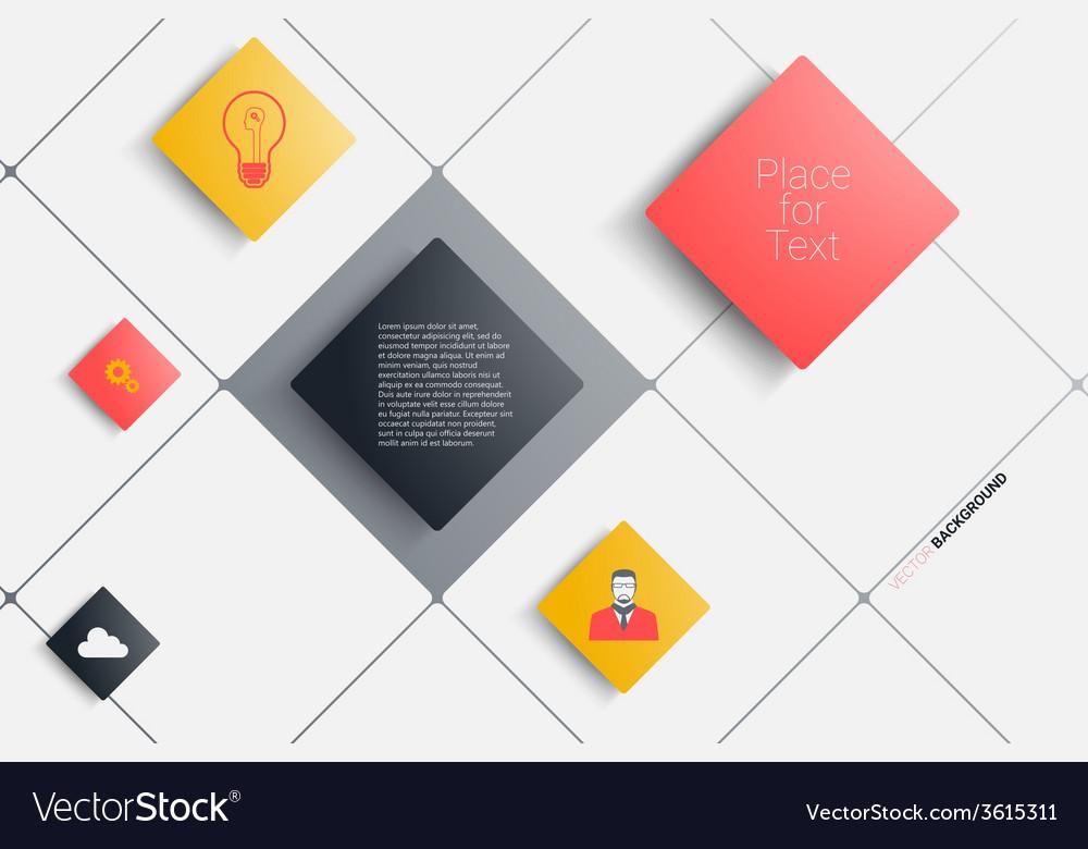Rectangles design vector | Price: 1 Credit (USD $1)