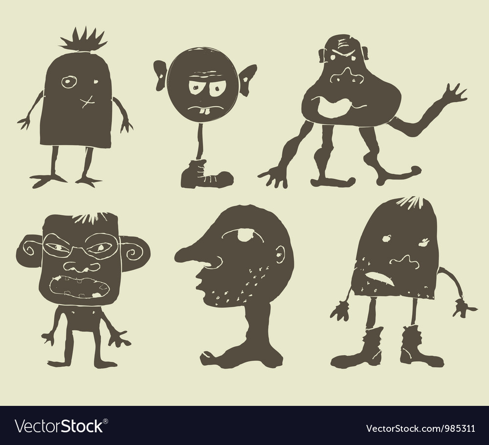 Strange monsters vector
