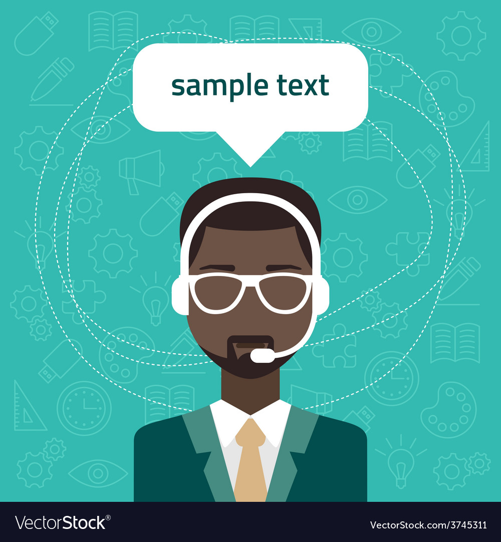 Technical support banners set assistant man with vector | Price: 1 Credit (USD $1)