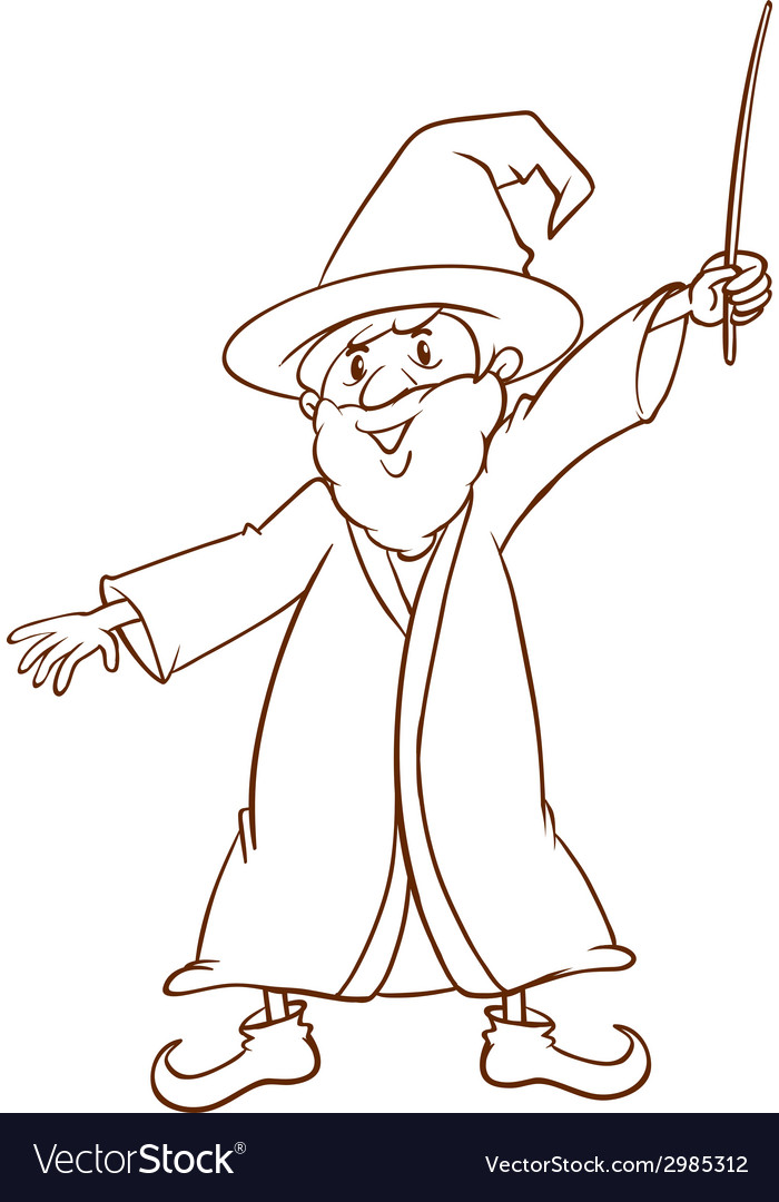 A simple drawing of a wizard vector | Price: 1 Credit (USD $1)