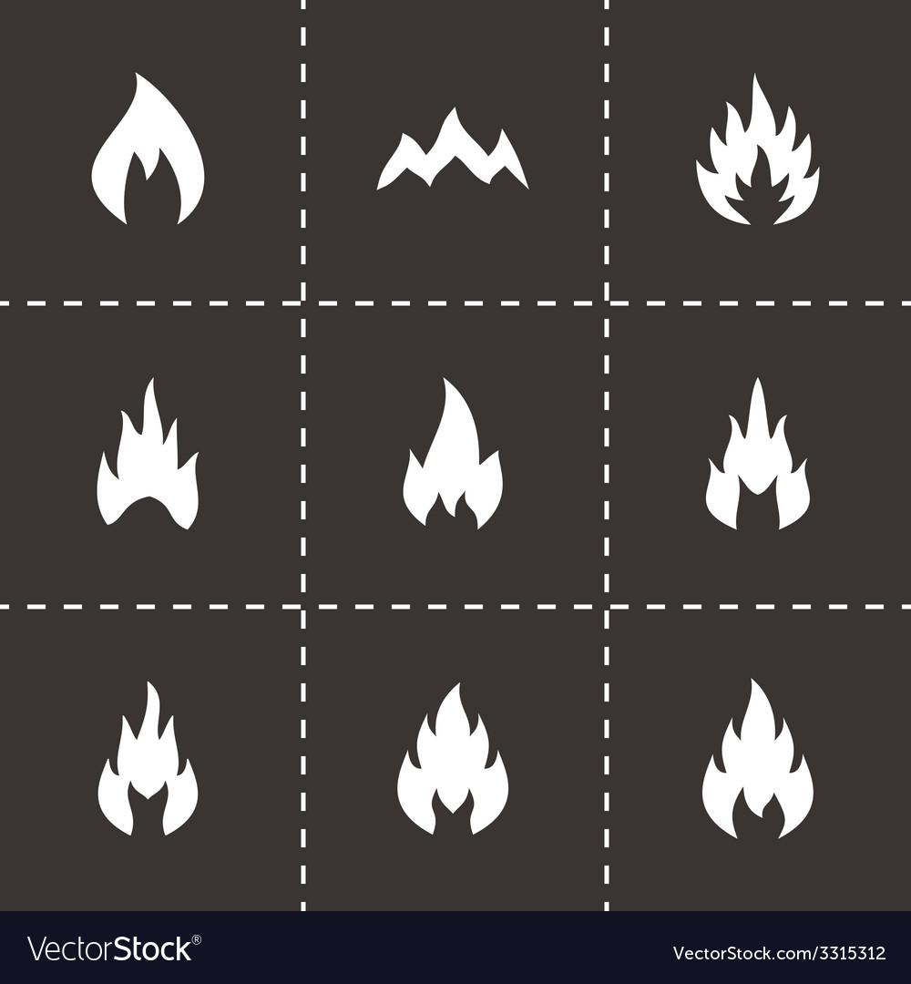Black fire icon set vector | Price: 1 Credit (USD $1)