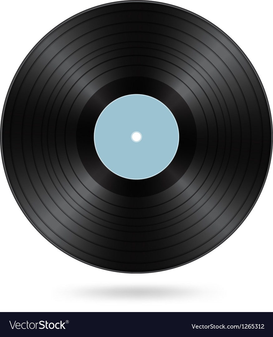 Black vinyl disc vector | Price: 1 Credit (USD $1)