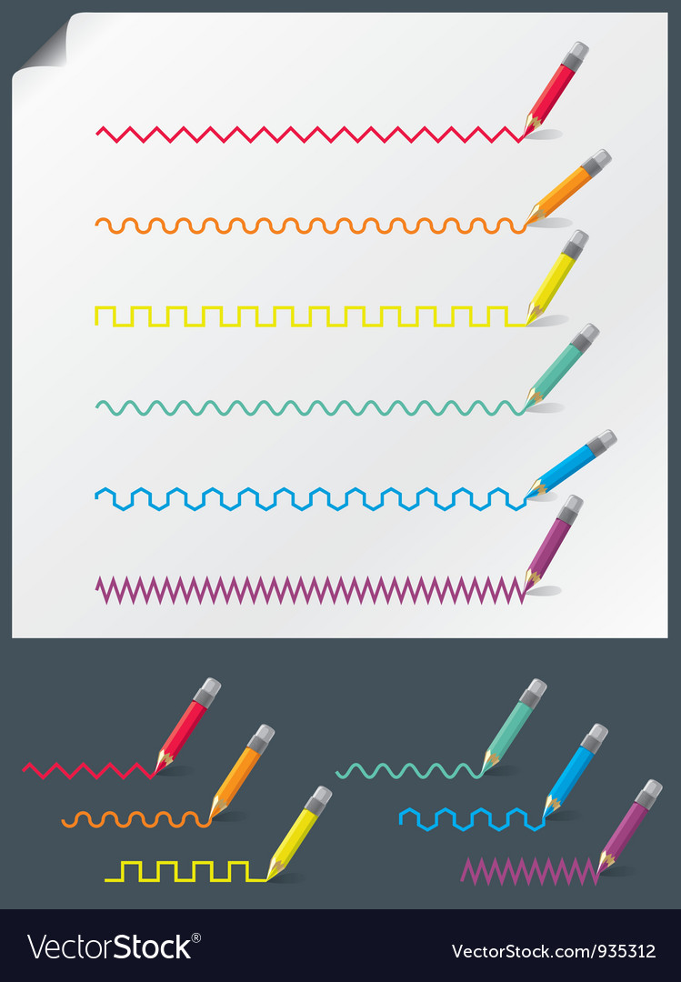 Color pencils vector | Price:  Credit (USD $)