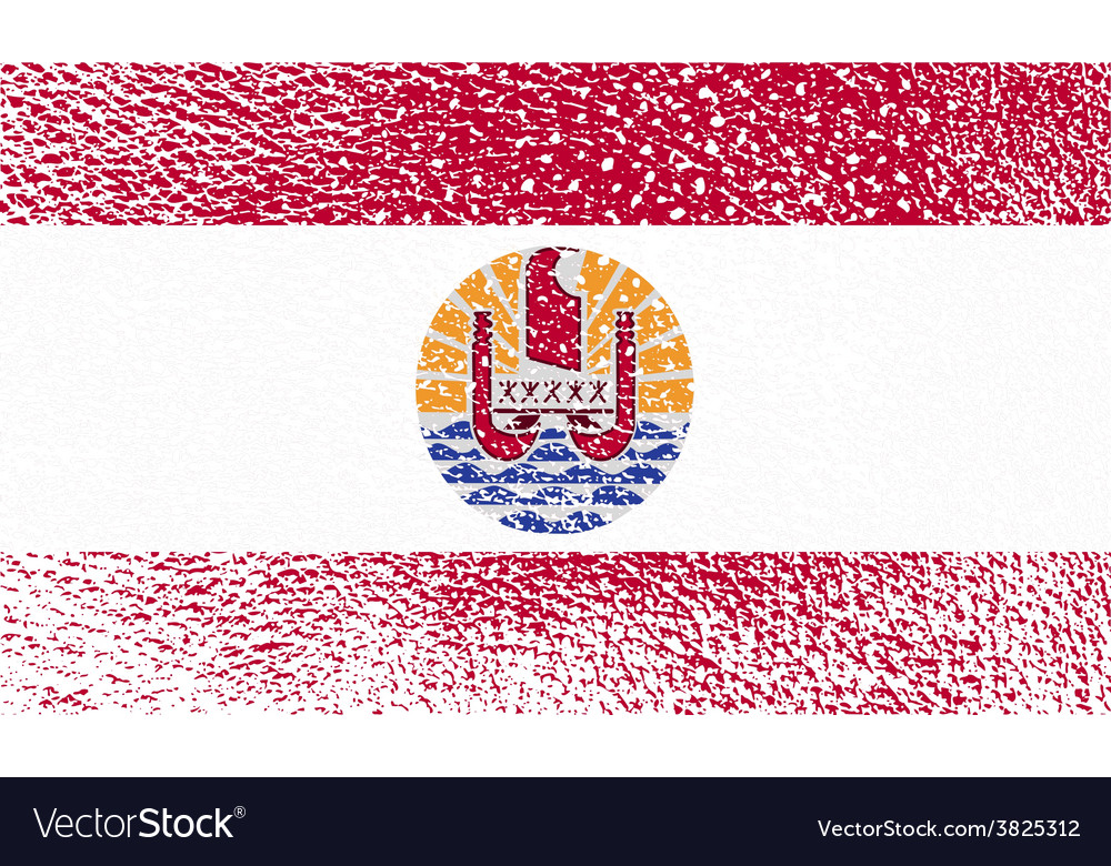 Flag of french polynesia with old texture vector   Price: 1 Credit (USD $1)