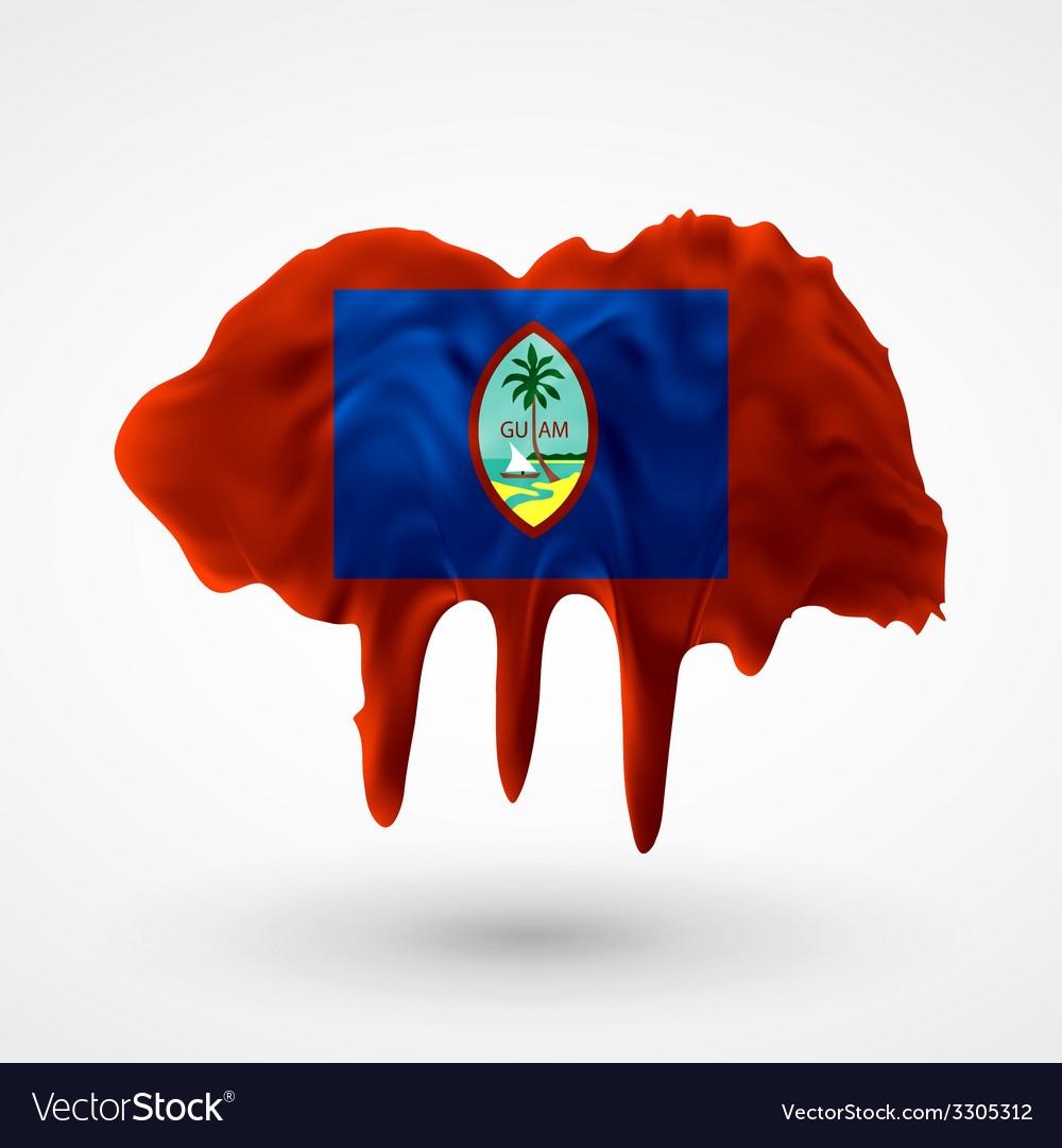 Flag of guam painted colors vector | Price: 1 Credit (USD $1)
