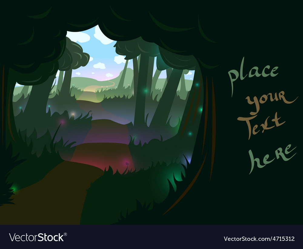 Forest trail background vector | Price: 3 Credit (USD $3)
