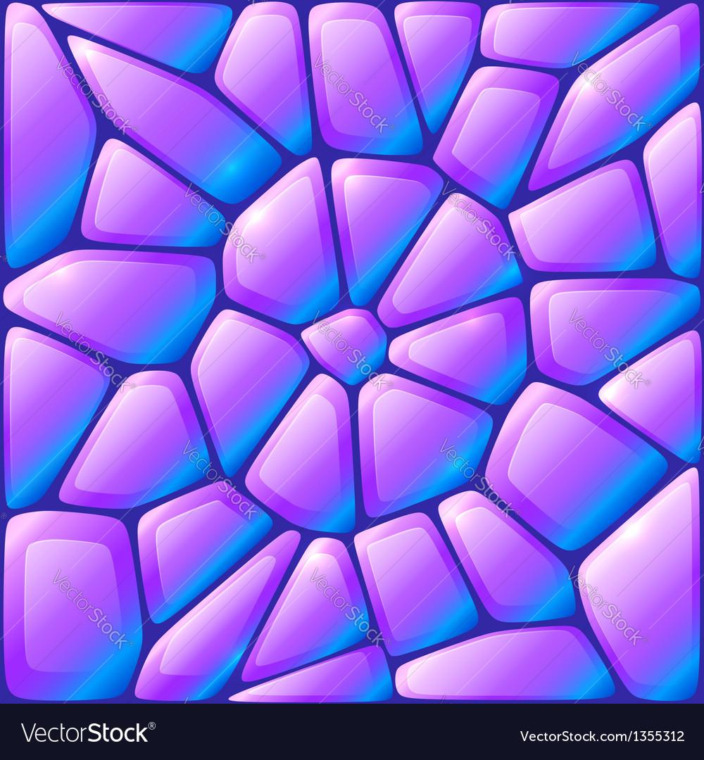 Glance violet rocks seamless pattern vector   Price: 1 Credit (USD $1)