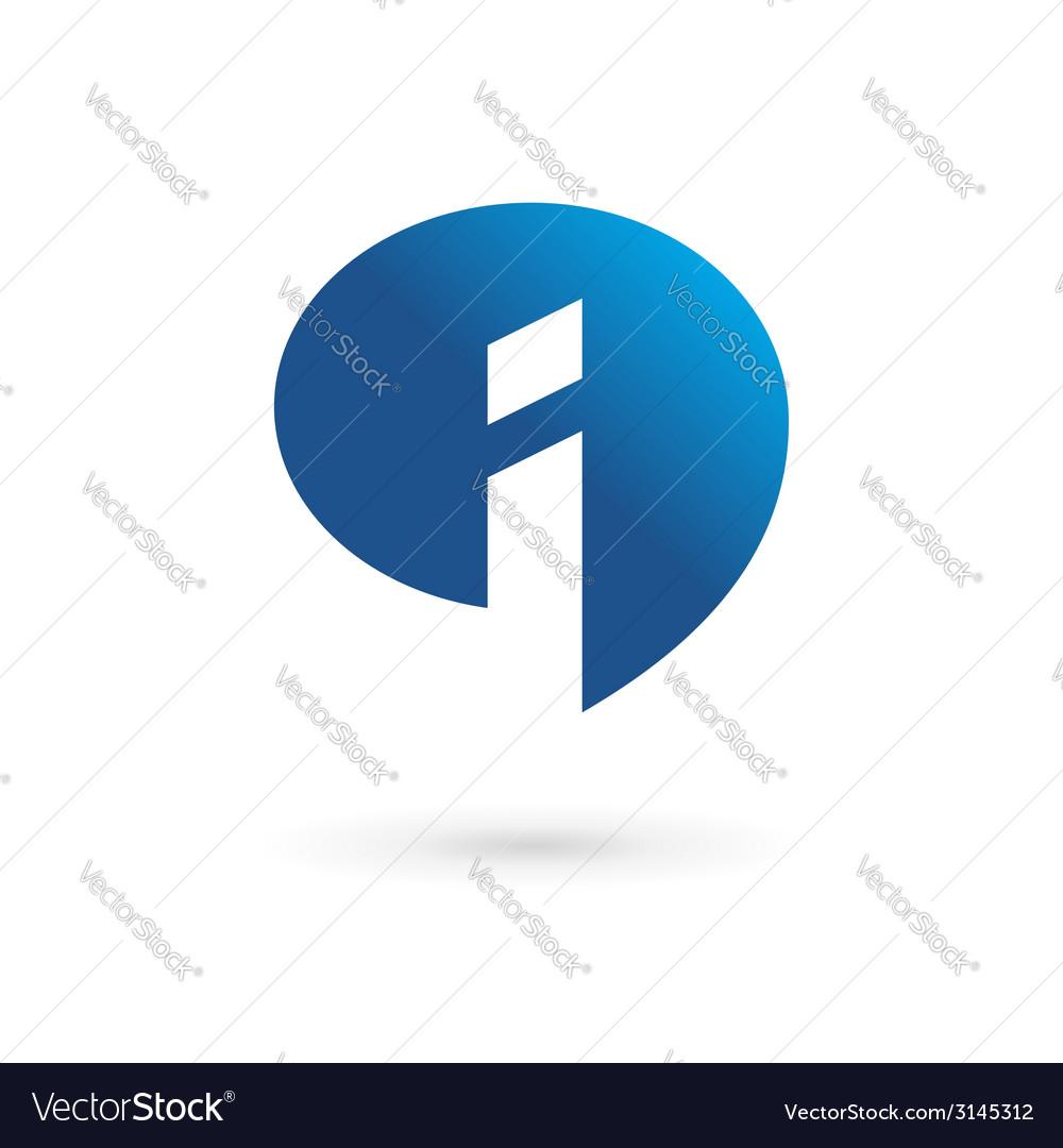 Letter i speech bubble info logo icon design vector | Price: 1 Credit (USD $1)