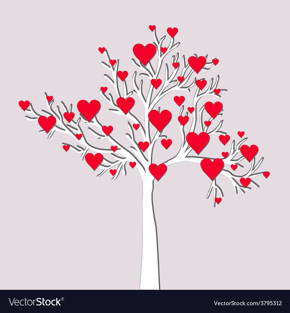 Love tree card vector | Price: 1 Credit (USD $1)