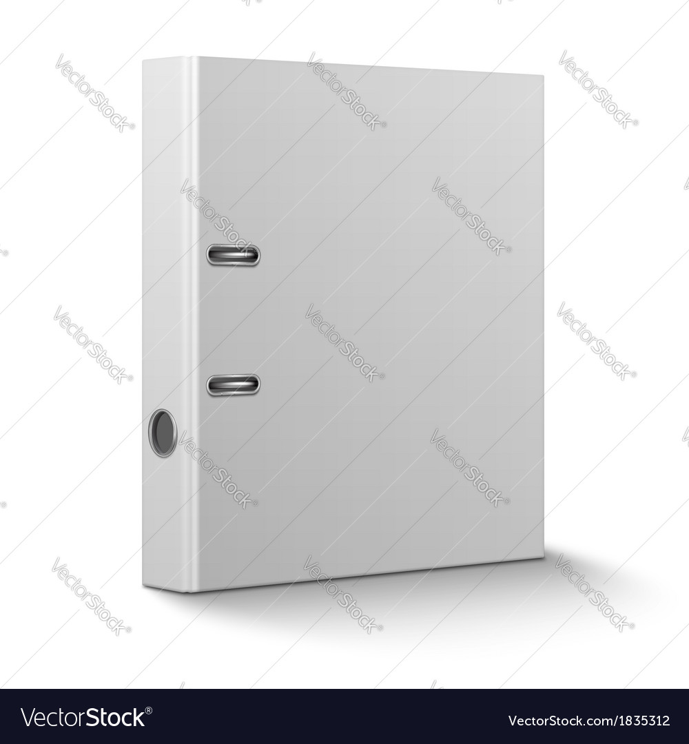 Office binder standing on white background vector | Price: 1 Credit (USD $1)