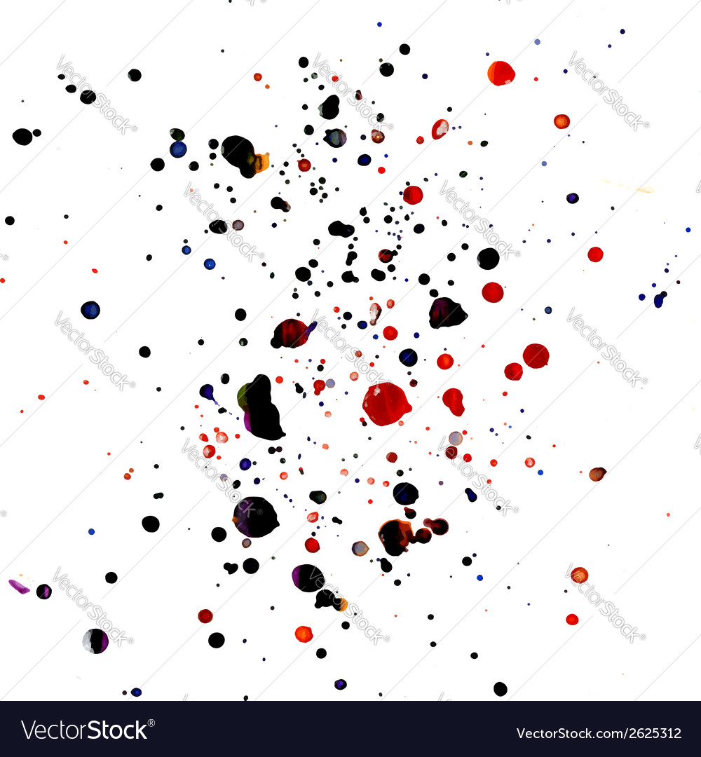 Paint splashes vector | Price: 1 Credit (USD $1)