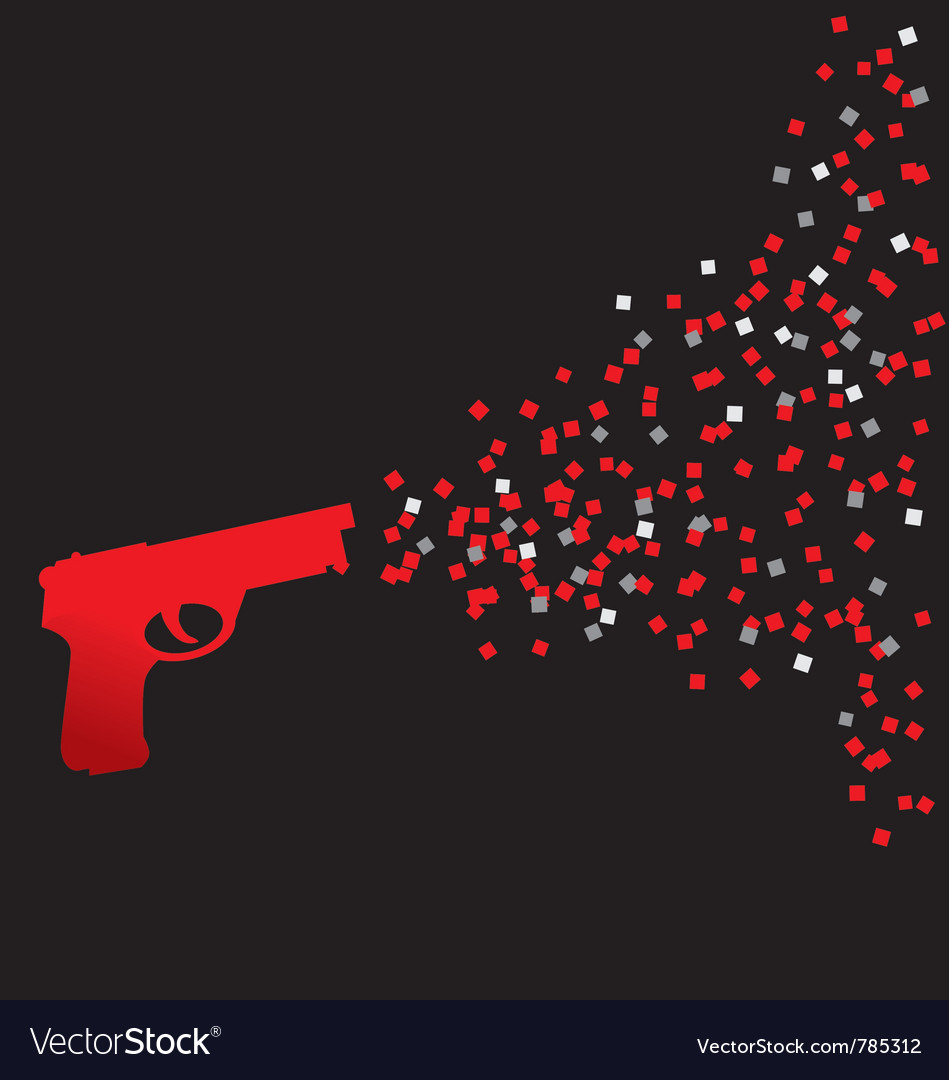 Red confetti shot vector | Price: 1 Credit (USD $1)