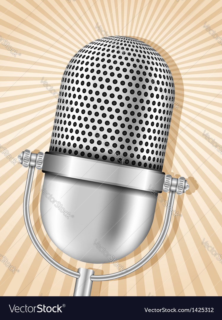 Retro microphone vector | Price: 1 Credit (USD $1)