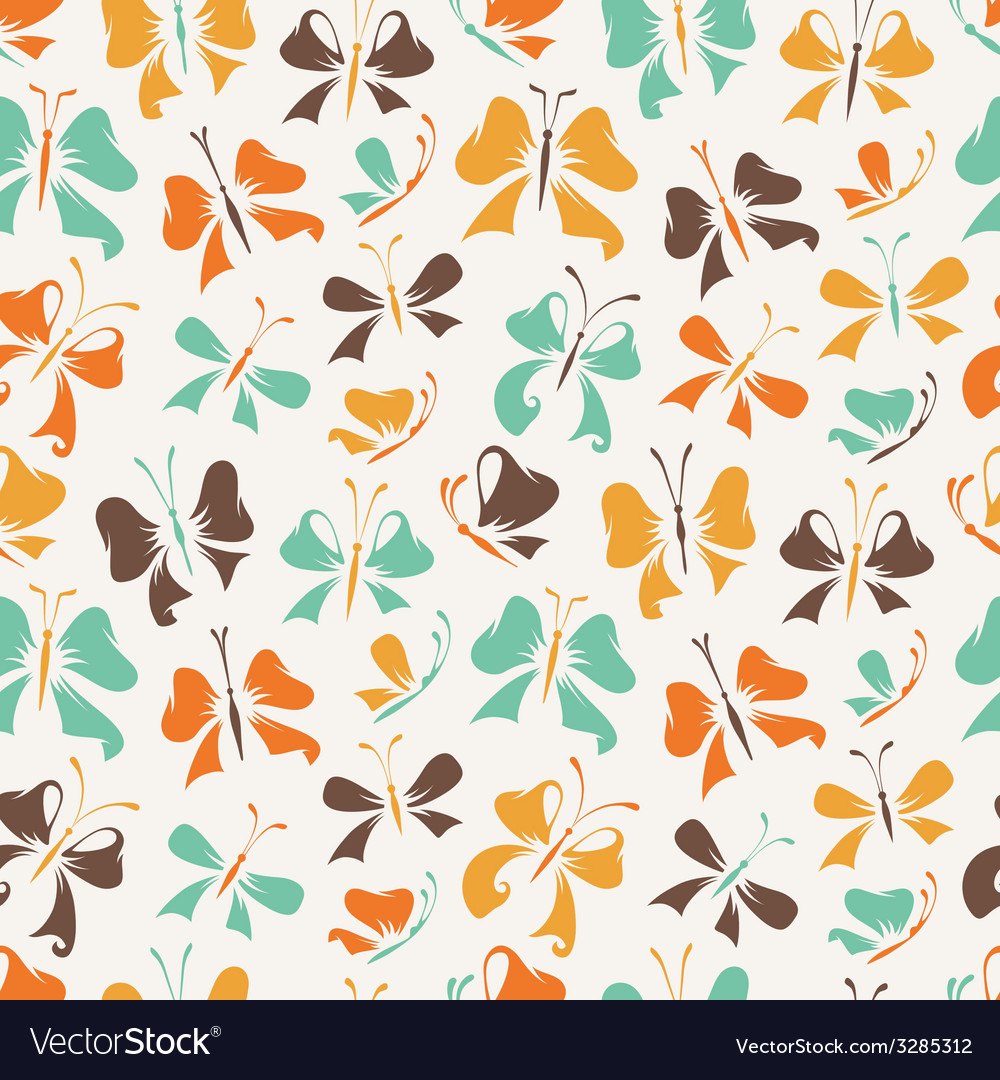 Seamless pattern of butterflies from bows vector | Price: 1 Credit (USD $1)
