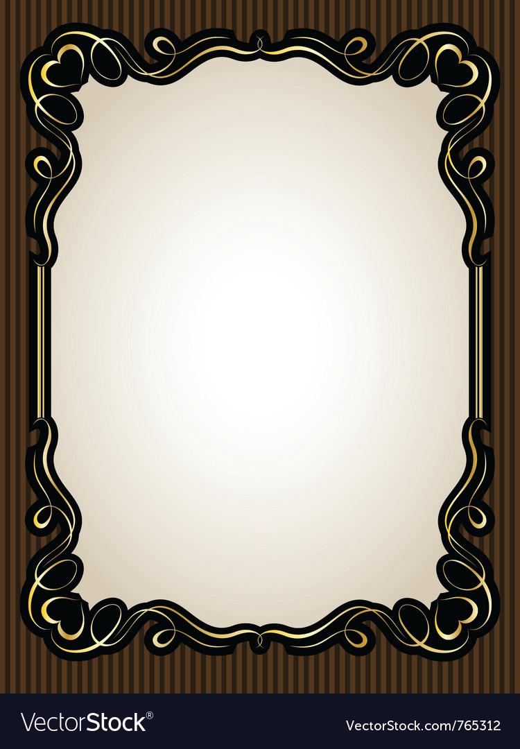 Vintage gold calligraphy heart frame pattern vector | Price: 1 Credit (USD $1)
